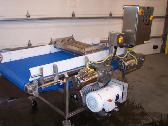 Triple Air Knife Dryer Conveyor- Portable