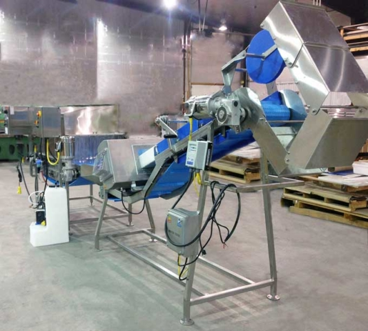 Conveyor with Trifold Chute