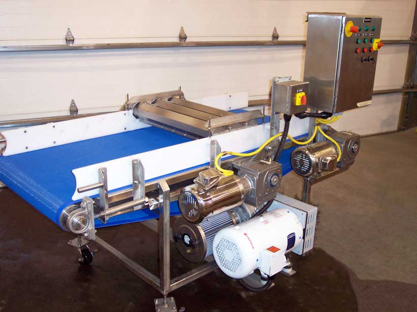 Triple Air Knife Dryer Conveyor Portable