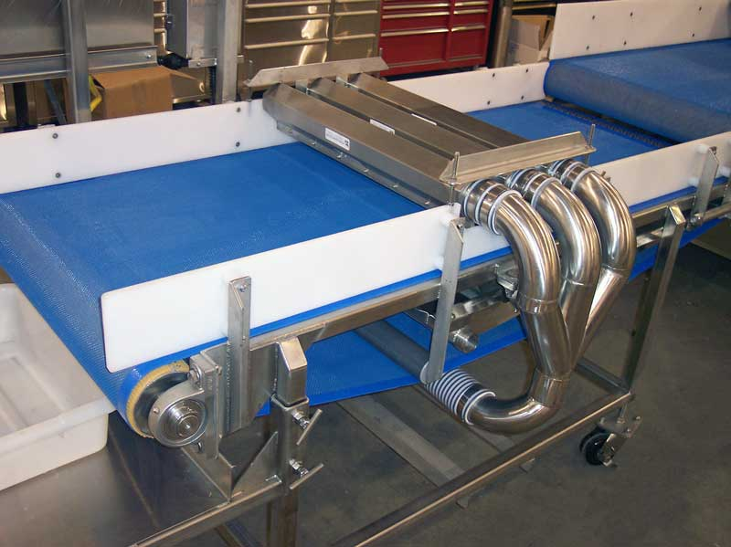 Triple Air Knife Drying Conveyor
